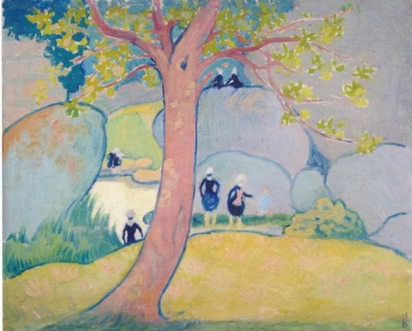 《小さなブルターニュの女性たち、沼のほとり》モーリス・ドニ 1892