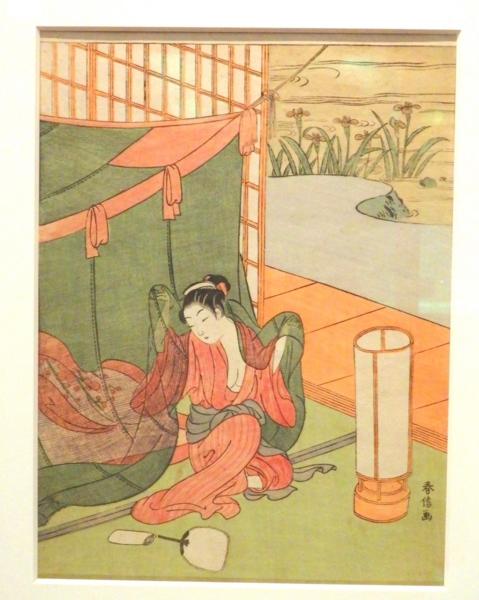 《蚊帳美人》鈴木春信