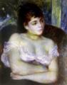 《肘掛け椅子の女性》ルノワール