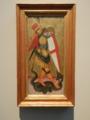 《聖ミカエルと龍》14世紀シエナ派