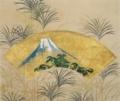 富士図扇面 伝 尾形光琳 (薄下絵・鈴木其一)