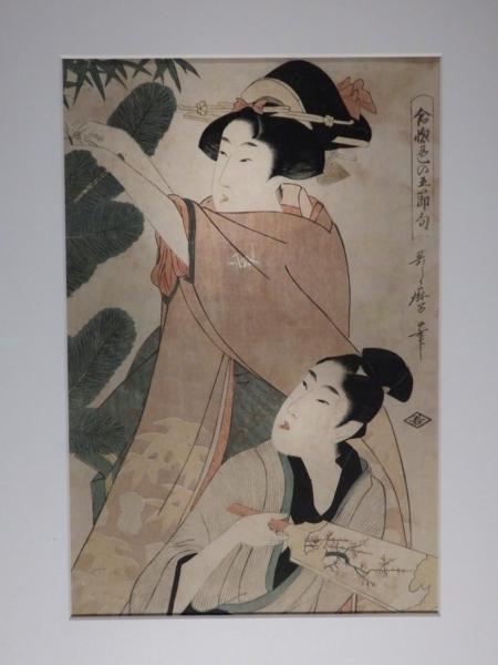 《合い惚れ色の五節句・正月》喜多川歌麿