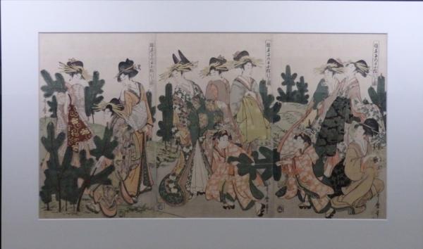 《遊君子の日小松引きの図》喜多川歌麿