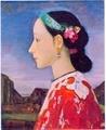 藤島武二《女の横顔》