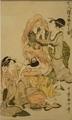 《七人猩々酩酊の圖(三幅の内)》喜多川歌麿