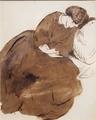 ソファで眠るジェイン・モリスの習作