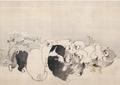長澤芦雪≪菊花子犬図≫