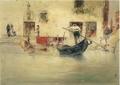 川村清雄《ヴェネチア風景》