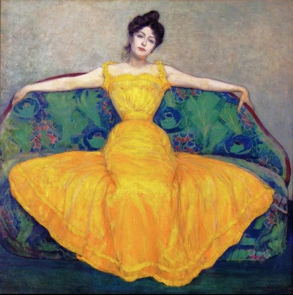≪黄色いドレスの女性≫マキシミリアン・クルツヴァイル