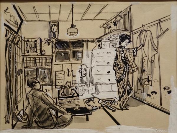 木村荘八《永井荷風『濹東綺譚』挿絵》