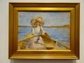 マリア・ヴィーク《ボートを漕ぐ女性、スケッチ》