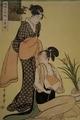 《風俗三段娘・下品の図》喜多川歌麿