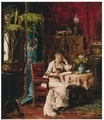 ムンカーチ・ミハーイ《本を読む女性》