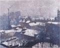 アンリ・マルタン《雪化粧のパリの屋根》