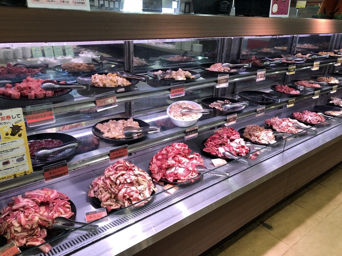 焼肉グレート 盛られたお肉