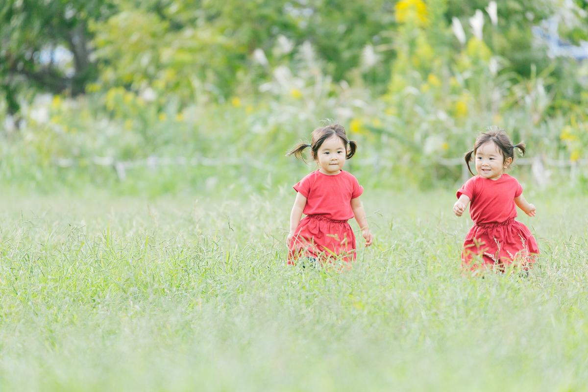 のびのびと自然を走り回る子供たち