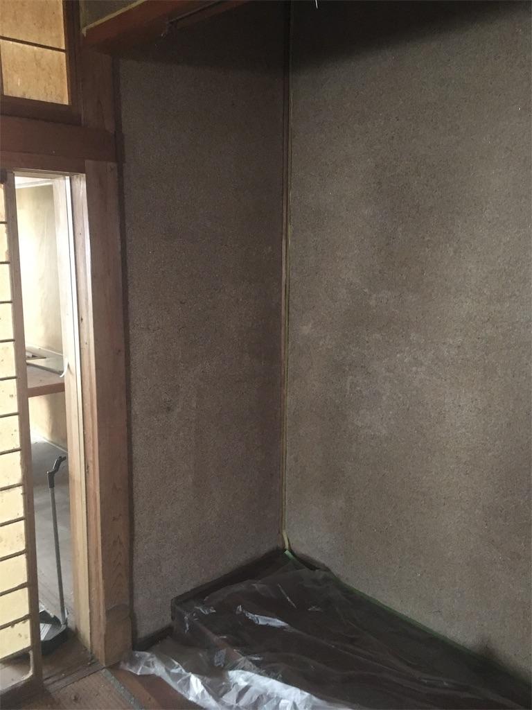 砂壁にパテ塗り 和室リフォーム ボロ戸建ボロ物件 不動産投資 Diy