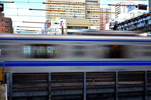 バイトへの通勤電車