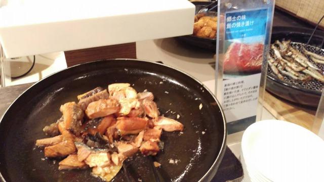 アートホテル新潟朝食バイキング鮭の焼き漬け