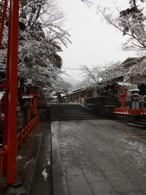 京都 雪 八坂神社