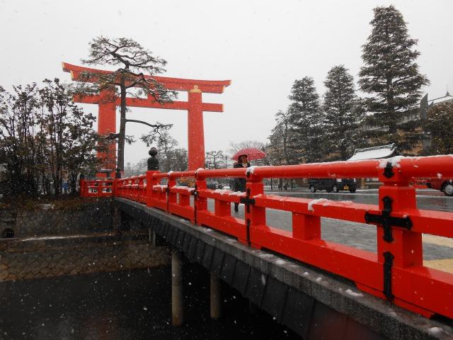 京都 雪 平安神宮