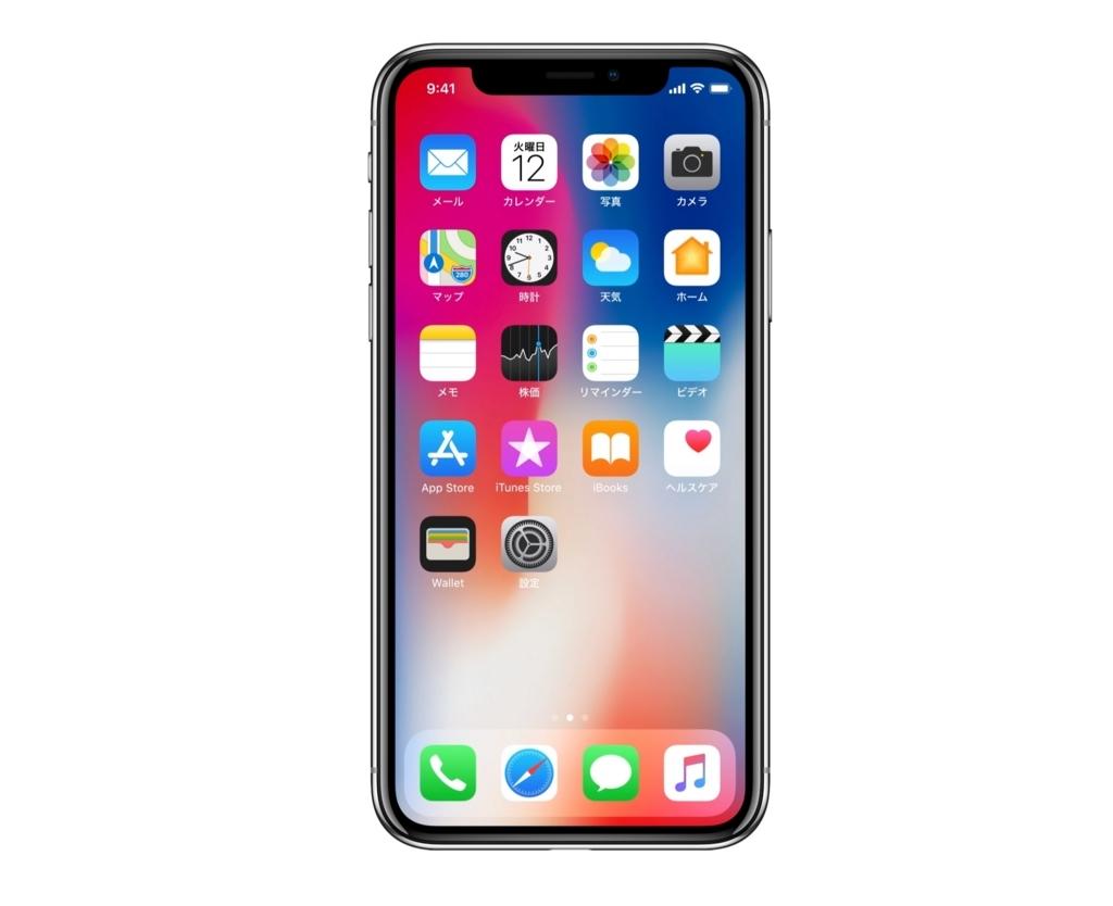 iPhoneXのディスプレイ