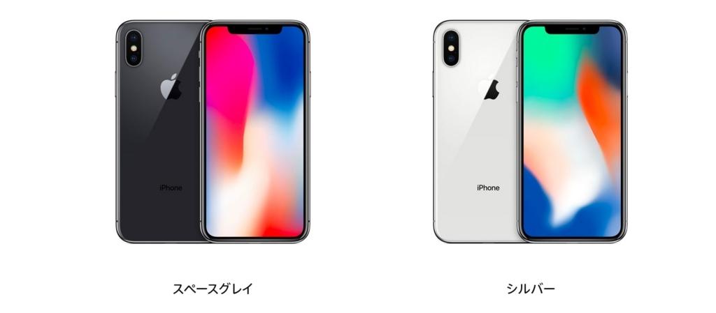 iPhoneXの色・カラー