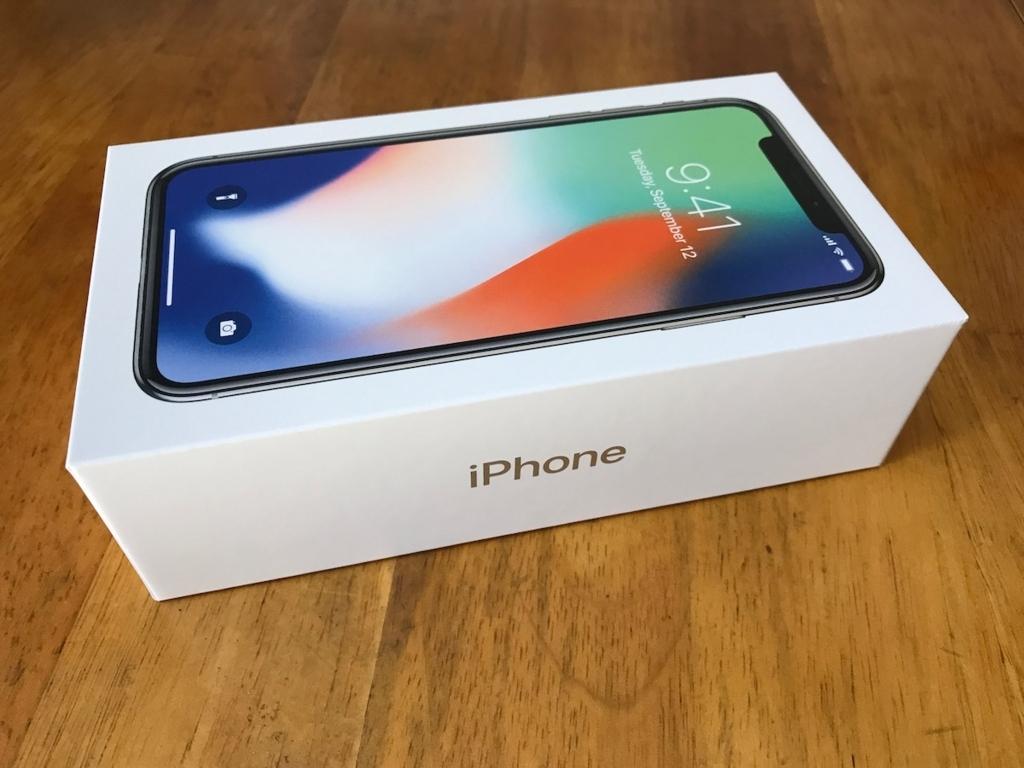 iPhoneXの外箱