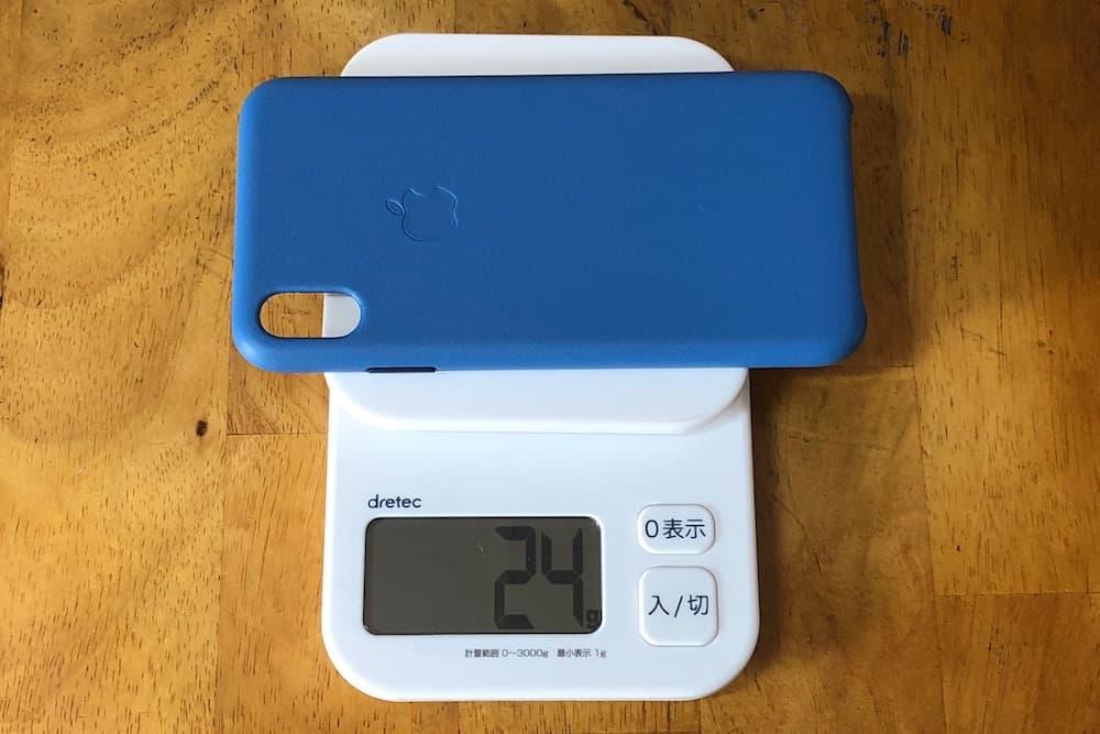 ケースの重さは、24グラム
