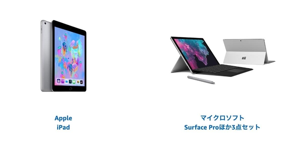 iPad、Surface Pro6