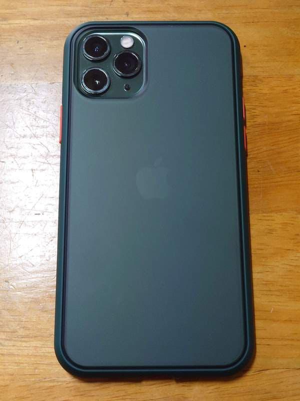 Keallce iPhone 11 Pro ケース グリーン マット