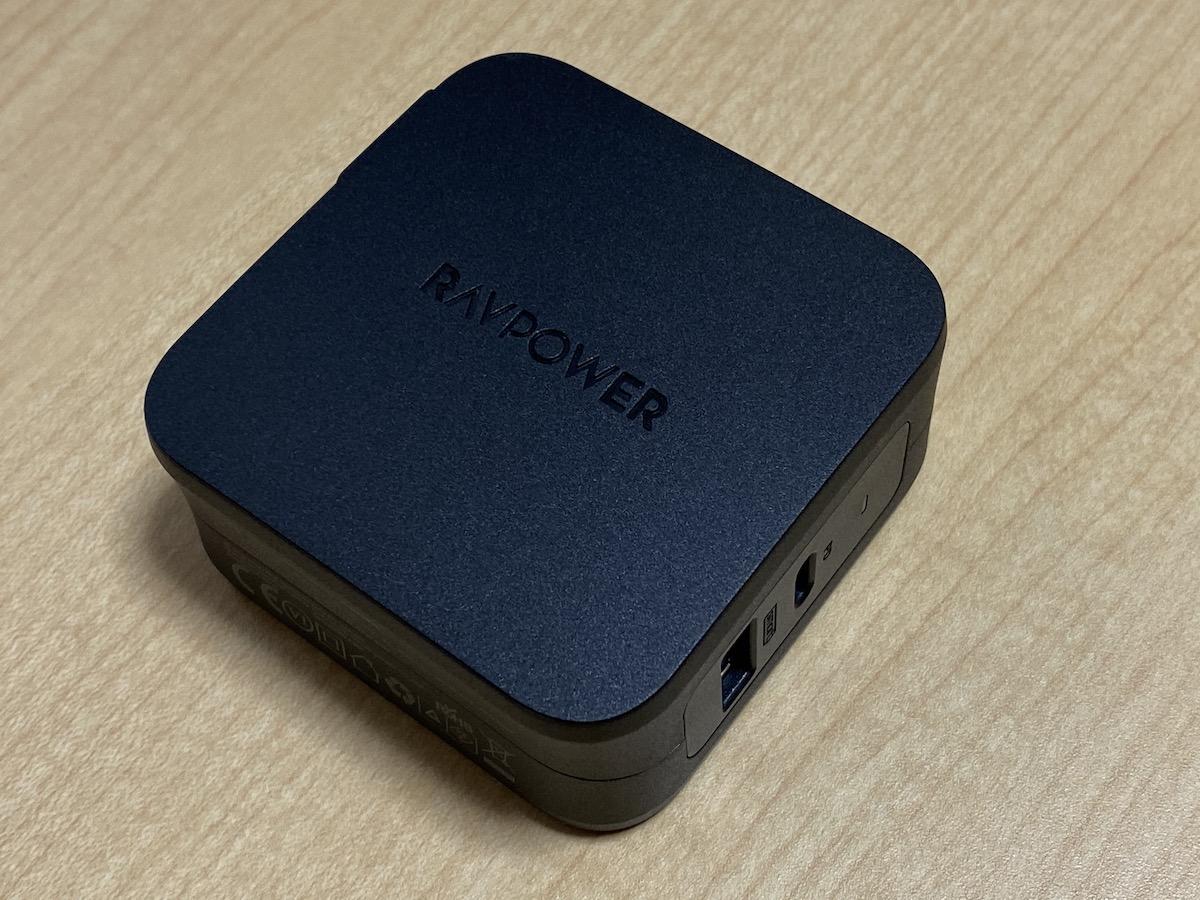 RAVPower USB-C急速充電器【61W/PD 3.0対応/折畳式/2ポートUSB-A & USB-C】