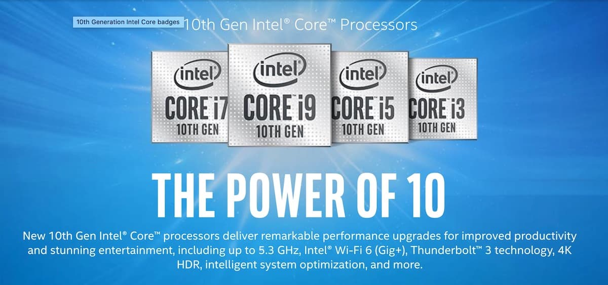 Intel「第10世代Coreプロセッサ(Comet Lake-H)」