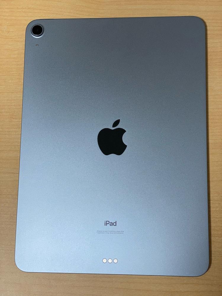 iPad Airスカイブルーの背面