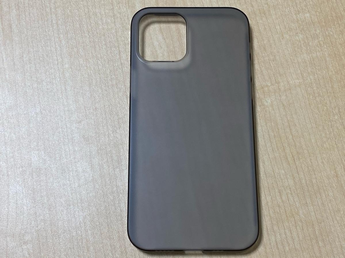 エアージャケット for iPhone12/12Pro スモークマット PPBK-70