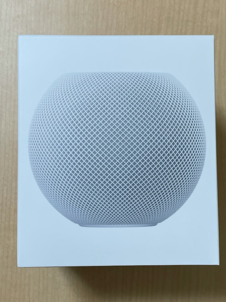 HomePod miniの外箱
