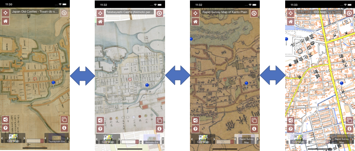 バズったので宣伝:古地図、絵地図で街歩きできるサイトを作れるオープンソース、Maplatをよろしくお願いいたします。の画像