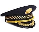パイロット ポリス 警官 ハット 帽子 コスプレ イベント 用 メタル ホイッスル 付き (1. パイロットM)
