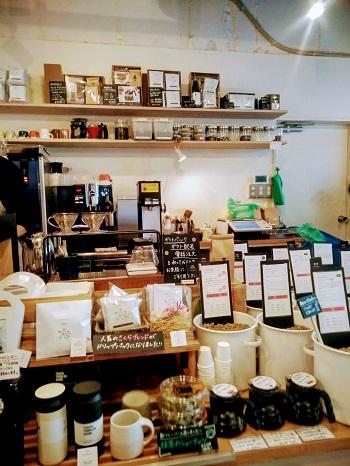 浦和駅前の常盤珈琲焙煎所の店内の様子