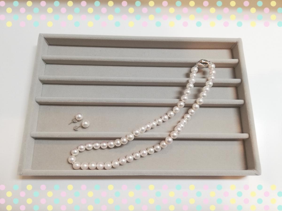 冠婚葬祭用:真珠のネックレスとピアス
