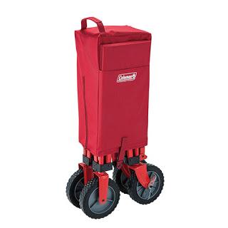 重い荷物もこれ一台で楽々運搬。コールマンのアウトドアワゴン。