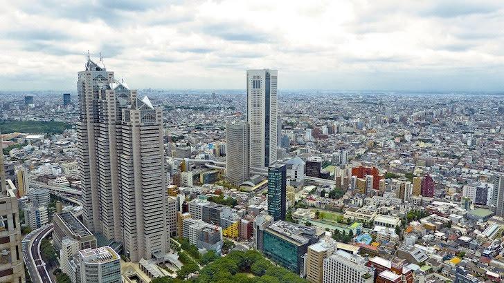 鳥瞰(ちょうかん)した日本の都会
