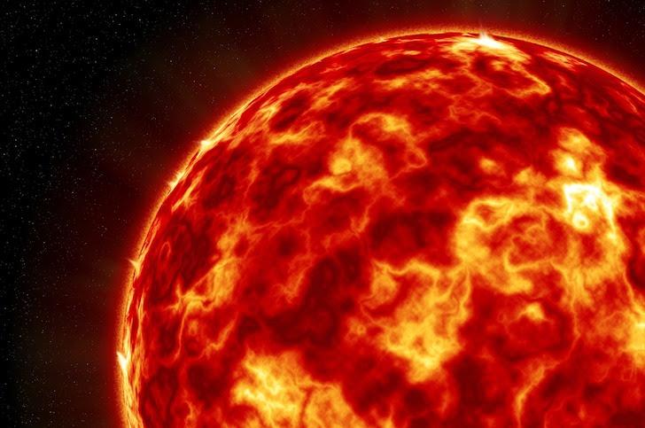 燃え盛る深紅の太陽