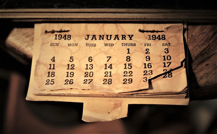 大昔のカレンダー