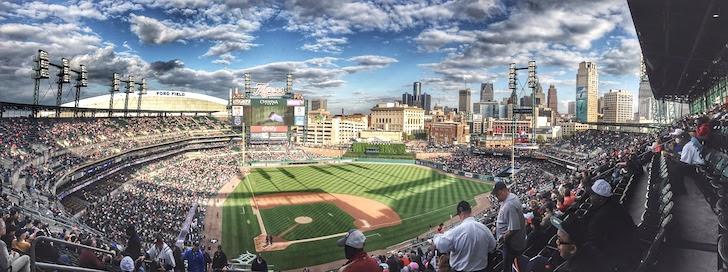鳥瞰した米国の野球場
