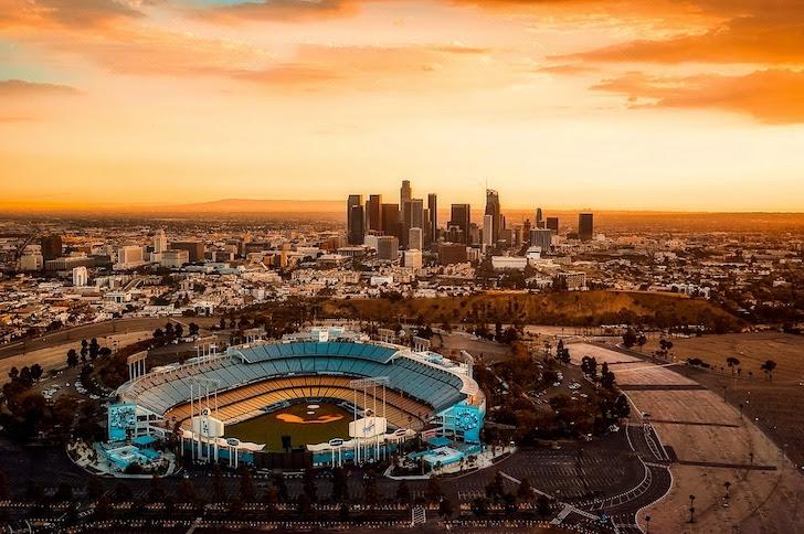 ロサンゼルスにあるドジャー・スタジアム