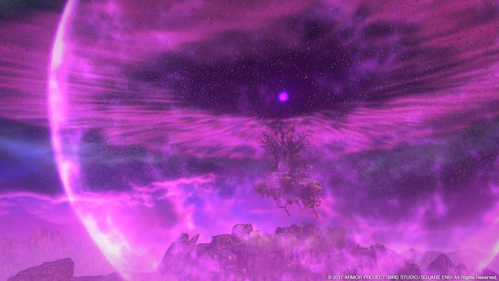 深紫色に覆われた空一面