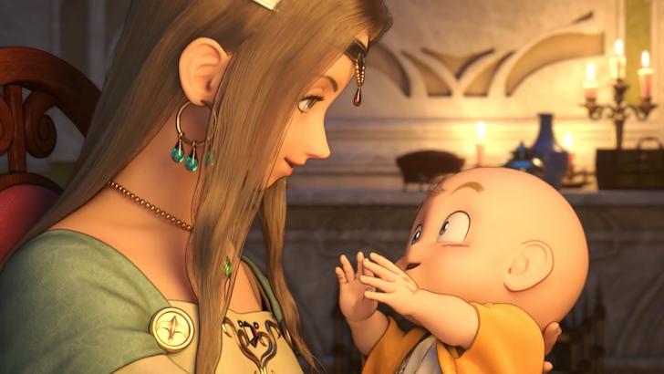 赤ん坊のころの主人公