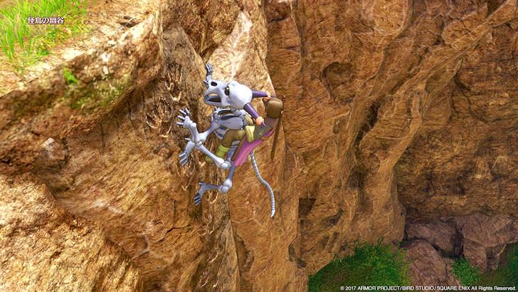 切り立った崖をよじ登るスカルライダー