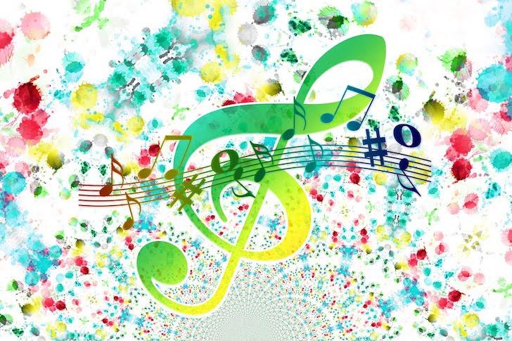 躍動する音と音符